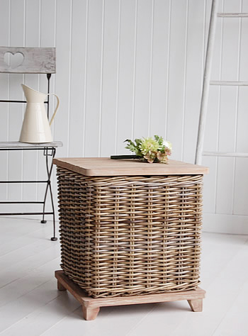 Bathroom Furniture Storage on Willow Storage Seat With Removable Driftwood Effect Lid