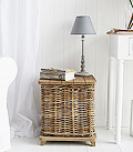 Willow storage seat / lamp table