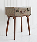 Woodstock vintage suitcase travel trunk lamp table