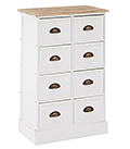 Connecticut white furniture.  Chest of drawers for living room, hallway and bedroom furniture