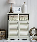 Hamptons cream double cabinet