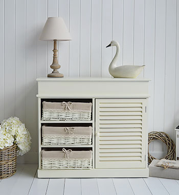 Hamptons cream sideboard for hall furniture