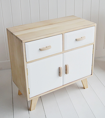 The Hamptons white sideboard with drawers and double cupboard