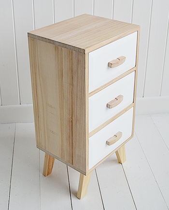 Wood And White Cabinet With Drawers Hamptons Cabinet
