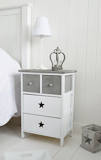 White Bedroom Table: Grey And White Furniture