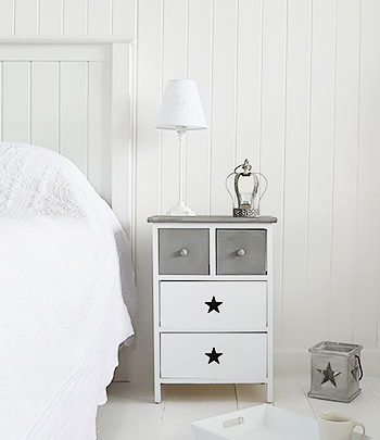 White and grey bedroom furniture. Grey and white furniture   Star Cottage drawers