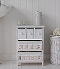 Hampton white bathroom basket storage