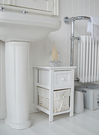 bar harbor small white bathroom storage furniture with 3 drawers