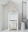 Bar Harbor small narrow bathroom storage cabinet 25cm wide