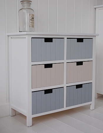 The White Lighthouse Furniture & Beach free standing bathroom cabinet furniture with 6 ...