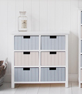 Beach Bathroom cabinet with 6 drawers for coastal New England furniture