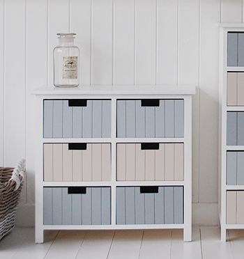 beach free standing bathroom cabinet furniture with 6 drawers sea