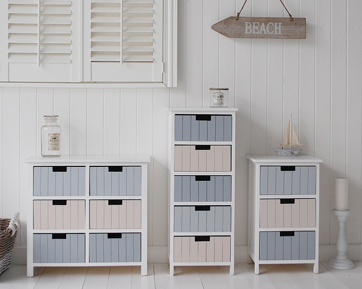 Beach Free Standing Bathroom Tallboy Cabinet Furniture