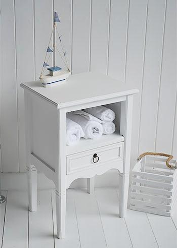 White beach house bathroom furniture