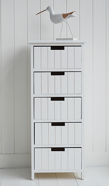 Brighton white bathroom storage furniture