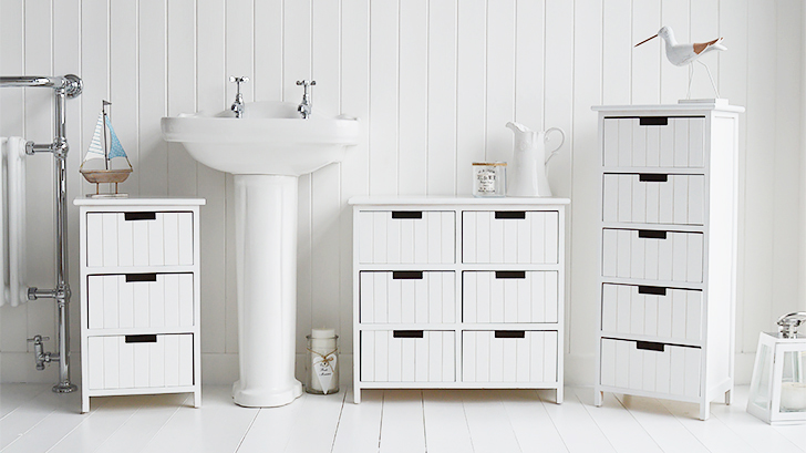 Beach free standing bathroom cabinet furniture with 6 drawers for Q furniture brighton co