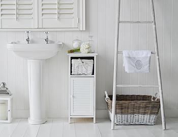 freeport narrow white bathroom cabinet 30cm wide for