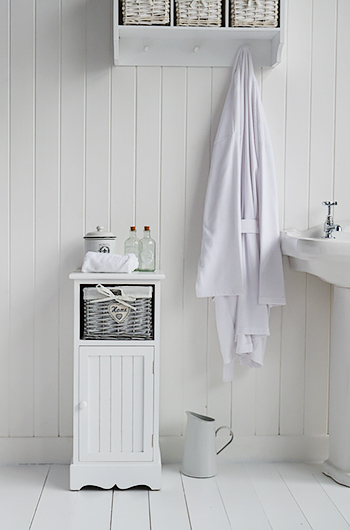 Bathroom Cabinets 30cm Wide hampshire white bathroom cabinet width 30cm - white bathroom furniture