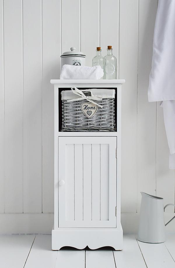 hampshire white bathroom cabinet furniture freestanding 30cm wide - Bathroom Cabinets 30cm Wide