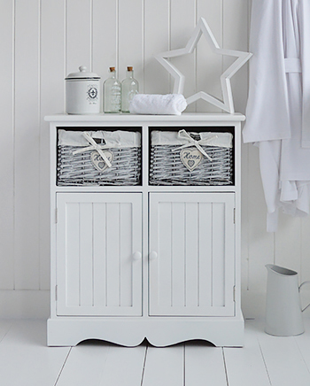 hampshire white bathroom cabinet double cupboard white