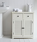 Hamptons small cupboard for bathroom storage