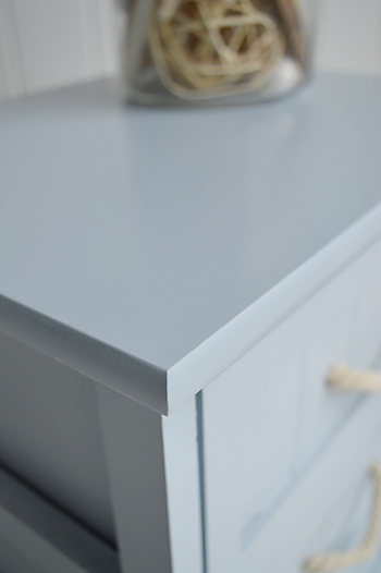 Pale Blue colour of the Huntington Beach bathroom cabinets with drawers for nautical bathrooms