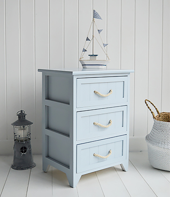 Huntington Beach 3 drawer bathroom cabinet for coastal and nautical bathrooms