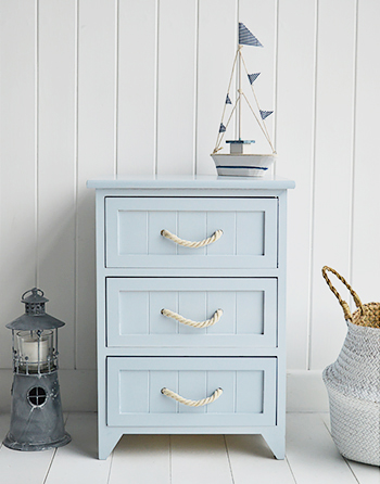Huntington Beach 3 drawer bathroom cabinet for coastal nautical bathrooms