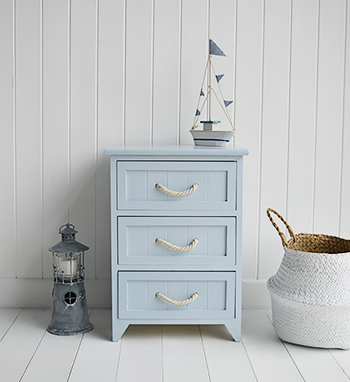 Huntington Beach 3 drawers bathroom storage cabinet for coastal and nautical design bathrooms