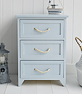 Huntington Beach Nautical Coastal 3 Drawer bathroom Drawers