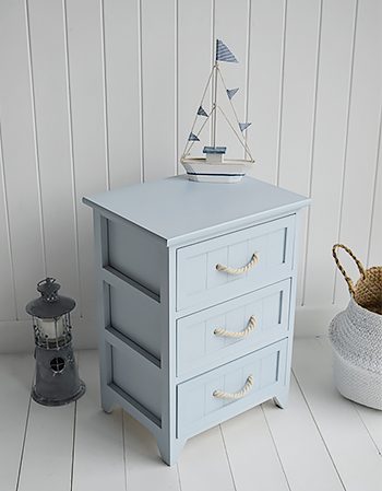 Huntington Beach bathroom drawer cabinet for coastal, nautical and beach design bathrooms