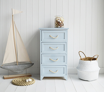 Nautical Pale Blue ropes bathroom cabinet