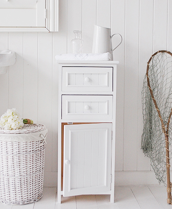 Maine white bathroom cabinet