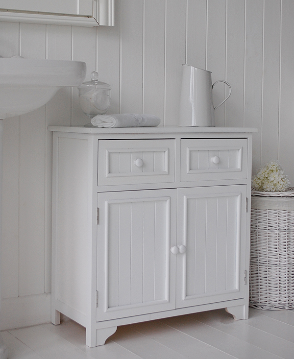 Maine Bathroom Cabinet With 2 Cupboards And Drawers For Storage Large Imagea