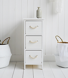 Maine narrow cabinet storage with drawers