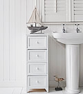 Maine 4 drawer white bathroom cabinet for storage furniture