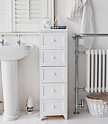 Maine 5 drawer white bathroom cabinet for storage furniture