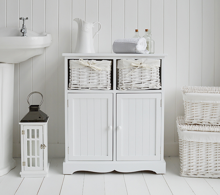 lowest price 3c7f6 94105 Maine Large White Bathroom Cupboard