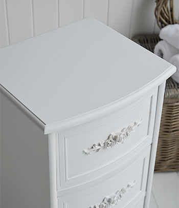 WHite Rose bathroom drawers