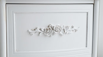 Drawer of White Rose Bathroom Cabinet