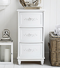 Rose bathroom cabinet with drawers