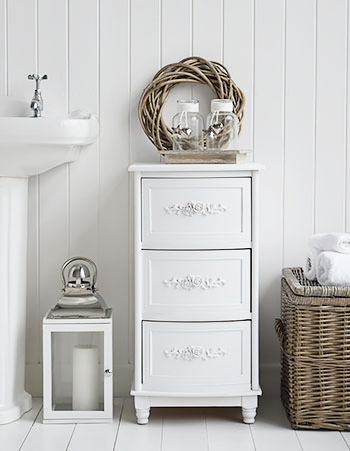 Rose elegant white bathroom furniture