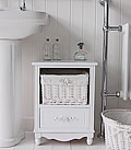 Rose white bathroom cabinet storage furniture