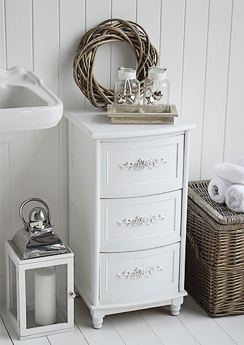 Rose white bathroom furniture for a cottage style bathrooom