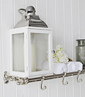 Silver Luggage Towel Rail with hooks for bathroom furniture