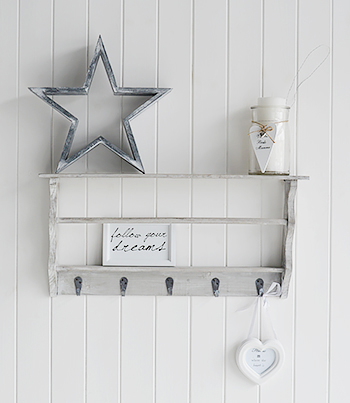 grey washed coat rack with shelves for hall the white. Black Bedroom Furniture Sets. Home Design Ideas