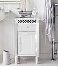 Westport bathroom cabinet with drawer and cupboard for a New England style bathroom