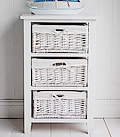 White Bathroom storage with 3 baskets