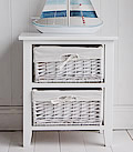 Two drawer white storage bedside