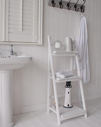 30 unique bathroom shelves white for Freestanding bathroom shelves